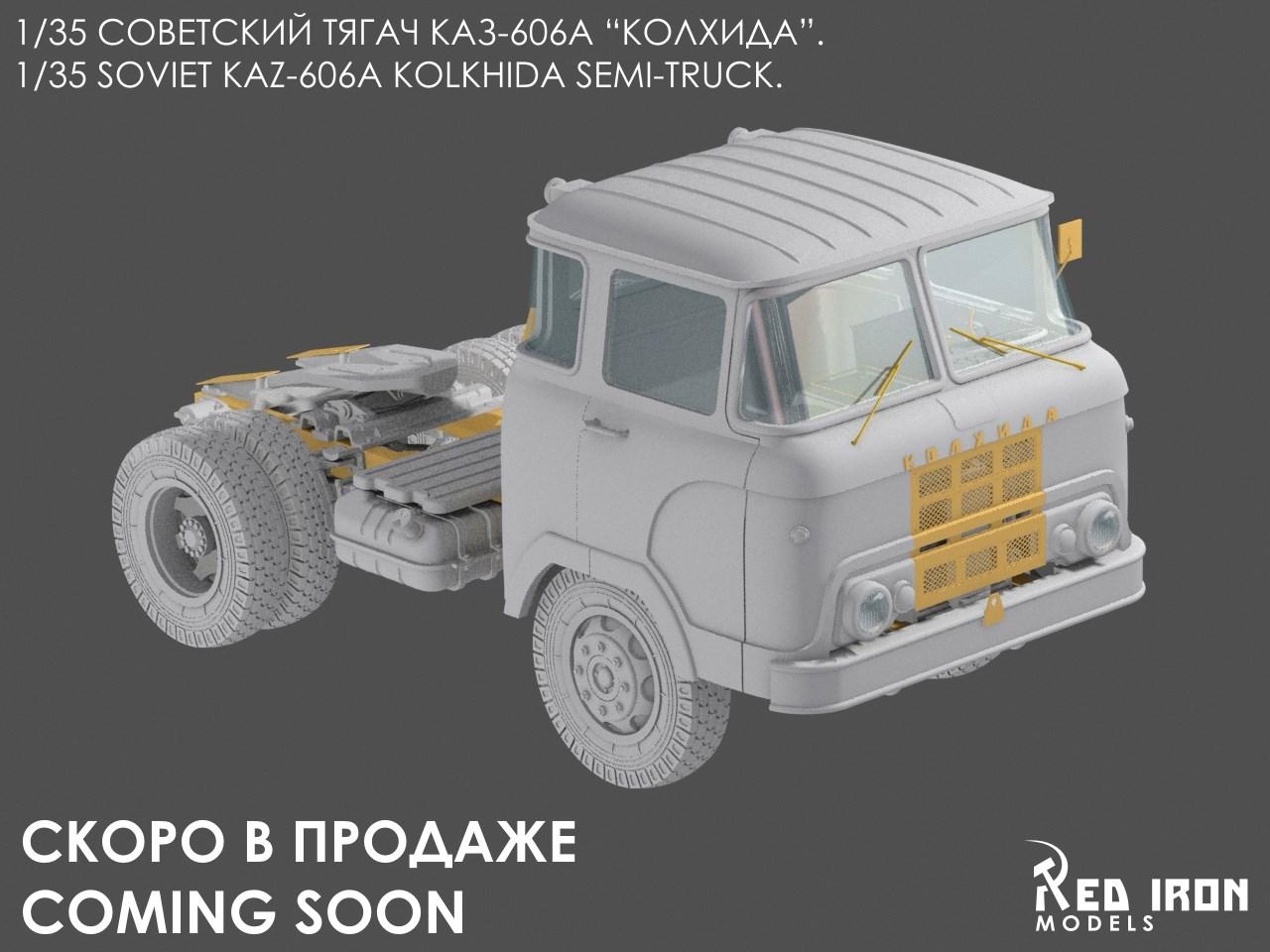Armorama : Red Iron: KAZ-606 semi-truck
