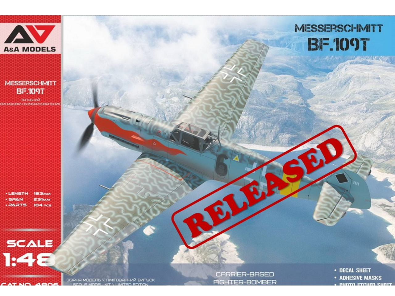 AeroScale : A&A Models: Bf 109 T Released