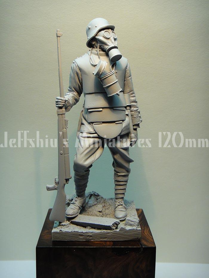 Armorama : Jeff Shius: WWI German Soldier with Body Armour