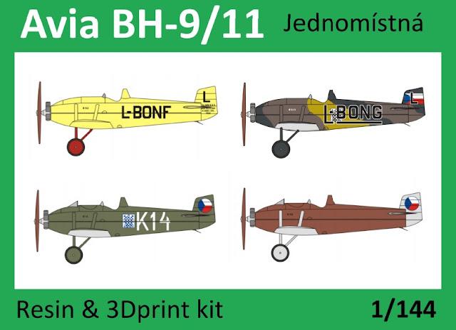 1/144 Avia BH-9/11 single-seat/two-seaters - Vizi Models