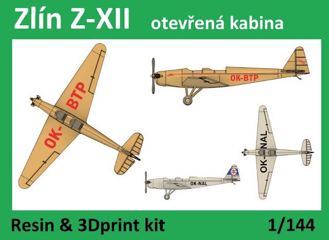 1/144  VZ44004 Zlín XII open cabin - Vizi Models