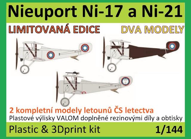 Nieuport Ni-17 and 21,   Ni-21 and 23 Czechoslovak Nieuports - Vizi Models
