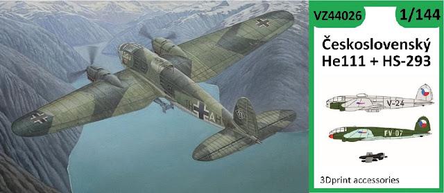 1/144 Czechoslovak He-111 and HS-293  / He-11 and Jumo 004 - Vizi Models